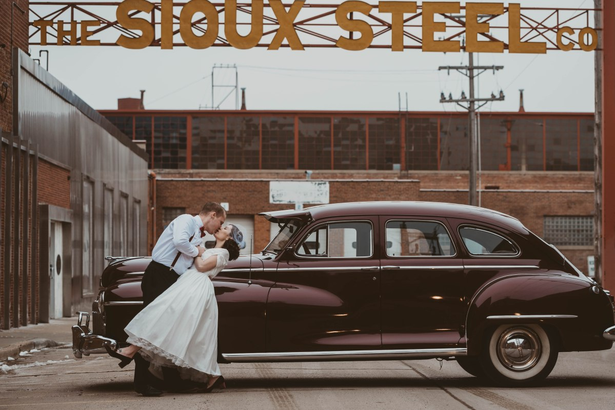 Wedding Photography Sioux Falls Sd: Downtown Sioux Falls, SD Wedding Photographer- 50's